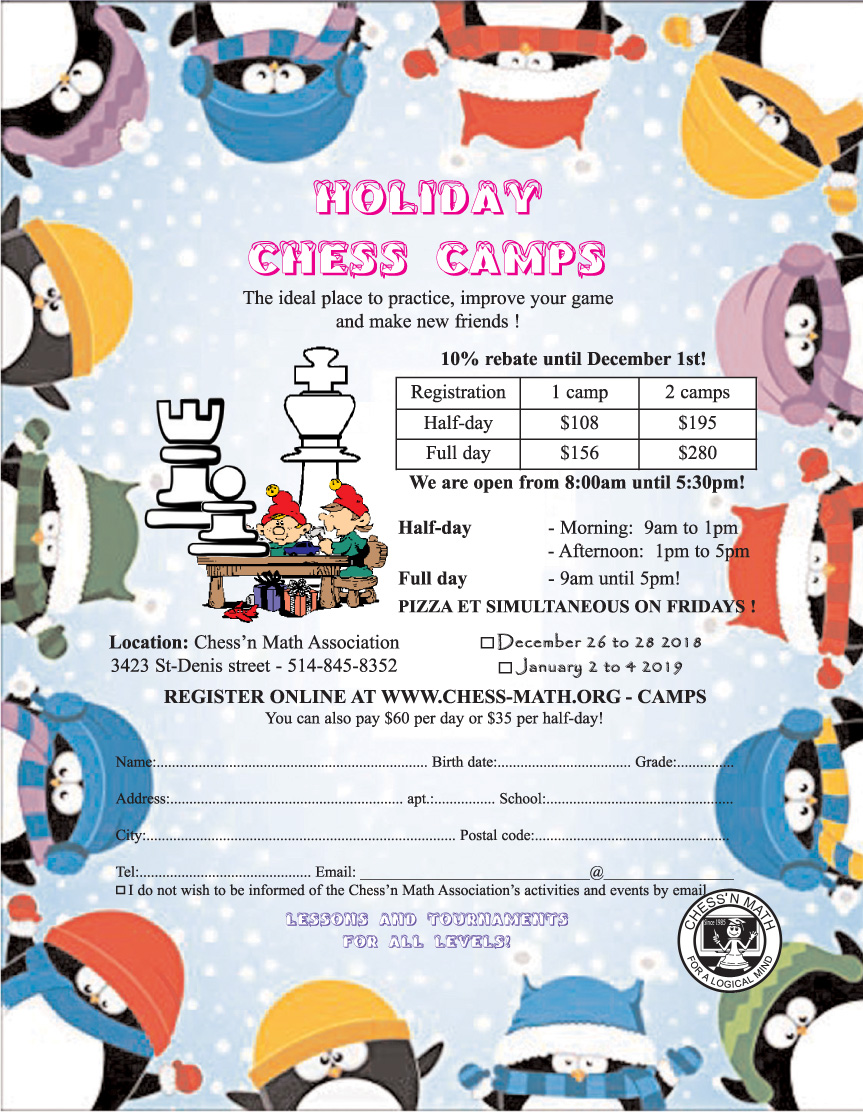 Christmas Holiday Camps   Chess\'n Math Association
