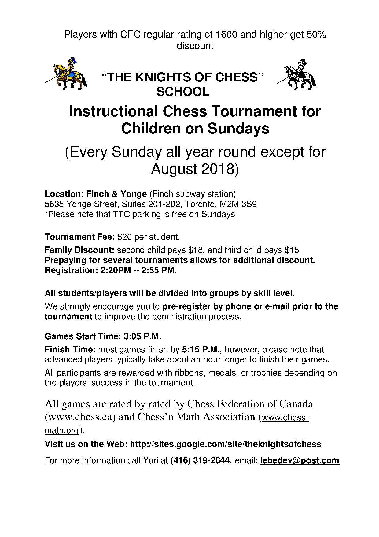 Instructional Chess Tournaments for Children | Chess\'n Math Association