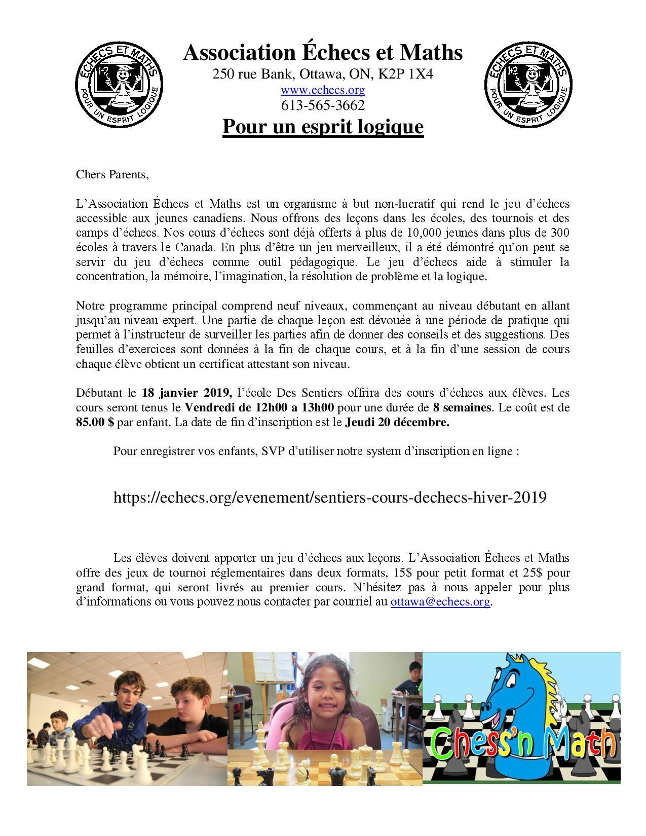 des sentiers winter 2019 registration