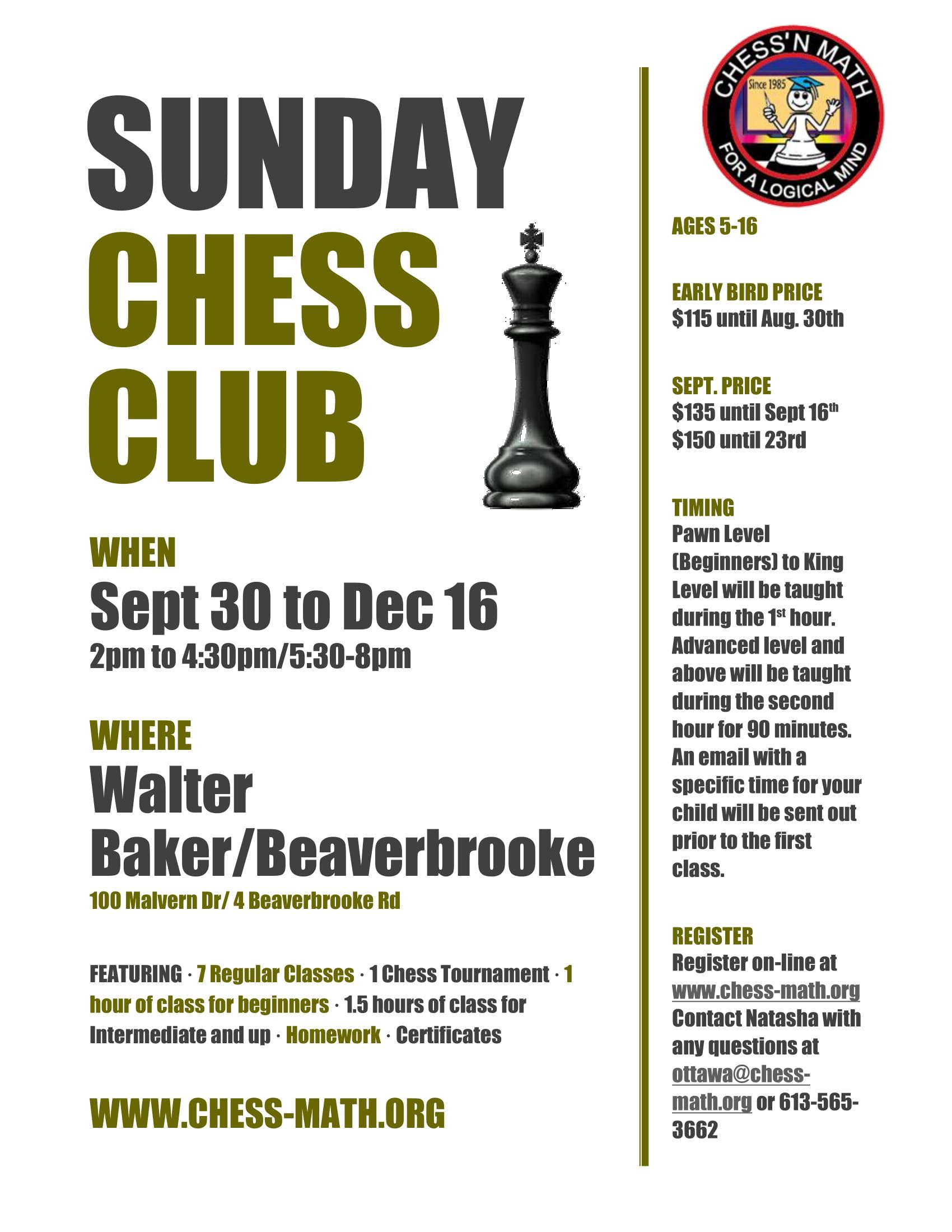 Sunday Chess Kanata