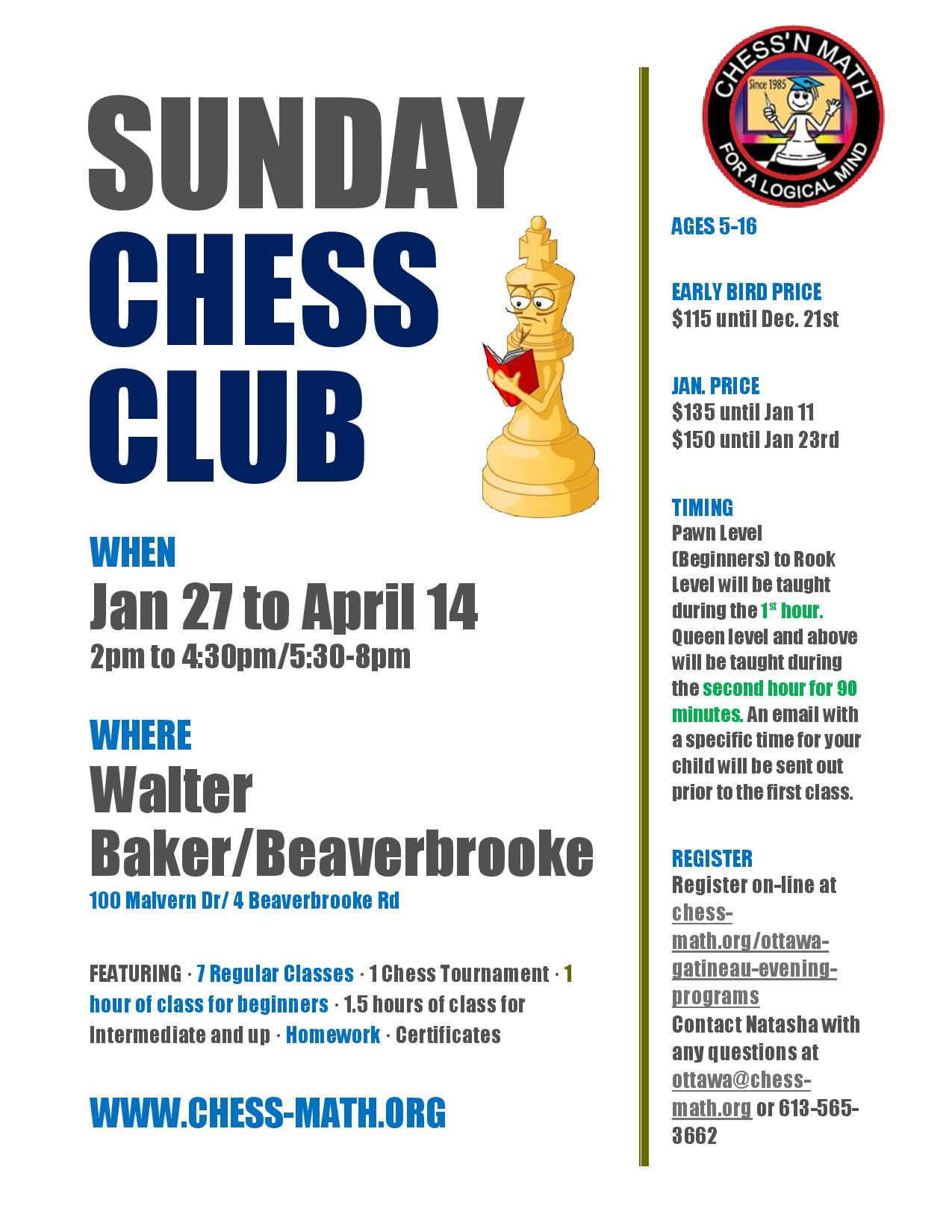 Kanata Chess Club Winter 2019